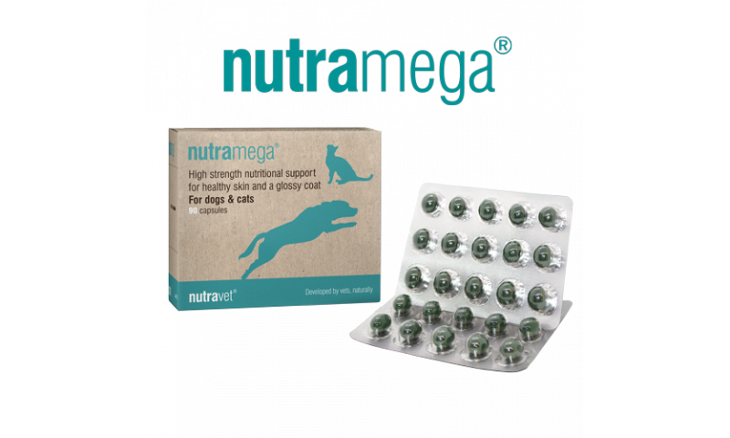 Nutramega for dogs & cats 90 capsules